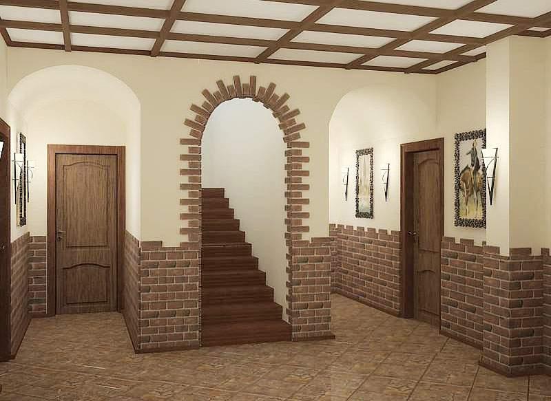 Дизайн интерьера прихожей холла дома