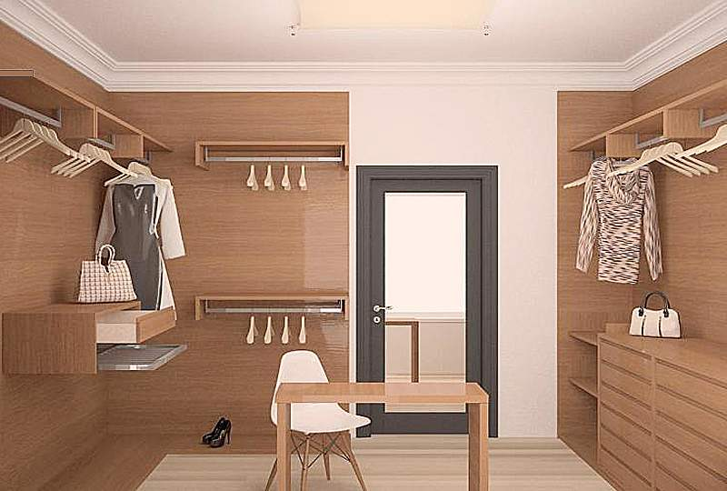Дизайн интерьера гардеробной фото