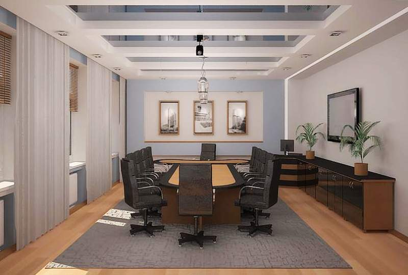 Дизайн интерьера переговорной комнаты фото