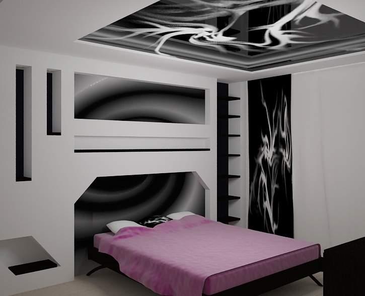 Дизайн спальни. Интерьер спальни. Дизайн интерьера квартиры. Визуализация интерьера квартиры.