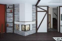 Дизайн гостиной. Интерьер гостиной. Дизайн интерьера коттеджа. Визуализация интерьера коттеджа.
