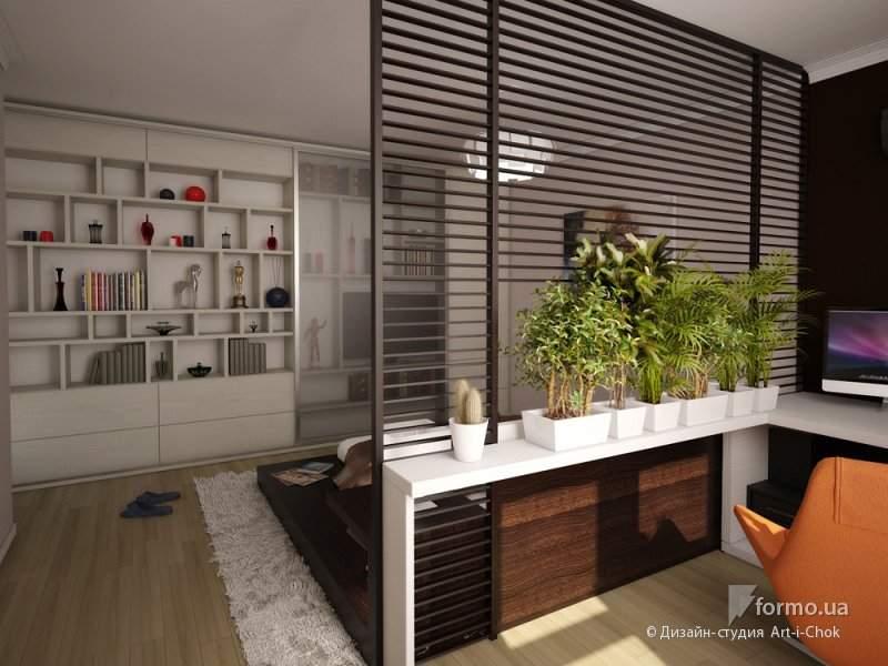 Зонирование комнаты : идеи и фото зонирования гостиной, спал.