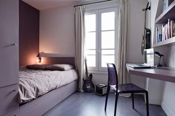 Дизайн интерьера маленькой спальни.