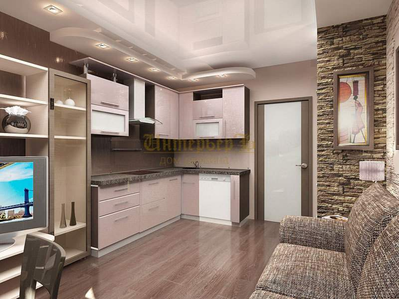 Кухня-гостиная 24 м2 дизайн