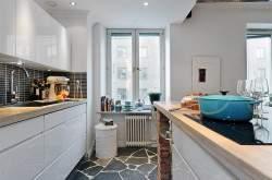 Кухня-гостиная в разных стилях