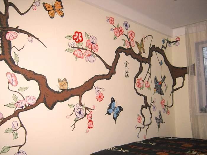 Росписи по стенам своими руками