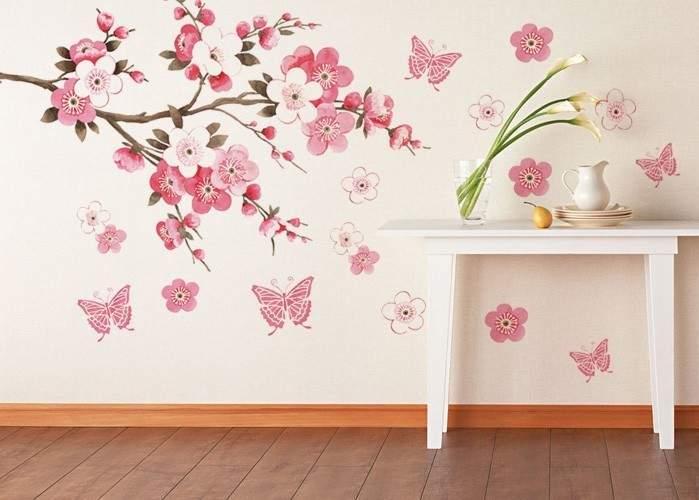 Сакура в декоре стен