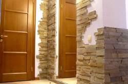 Декор стен. Украшение интерьера камнем