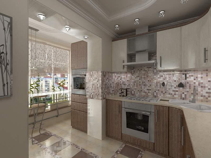 Интерьер кухни балкон