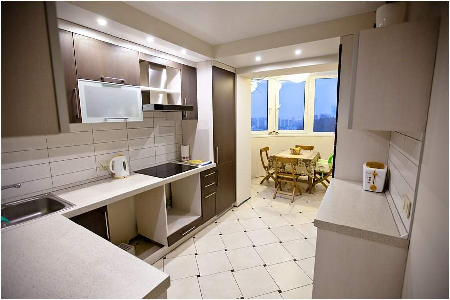 Дизайн кухни 6 метров с балконом