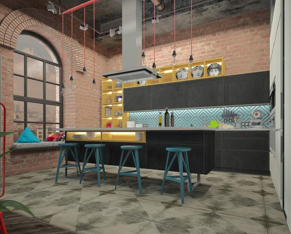 Интерьер современной кухни #26