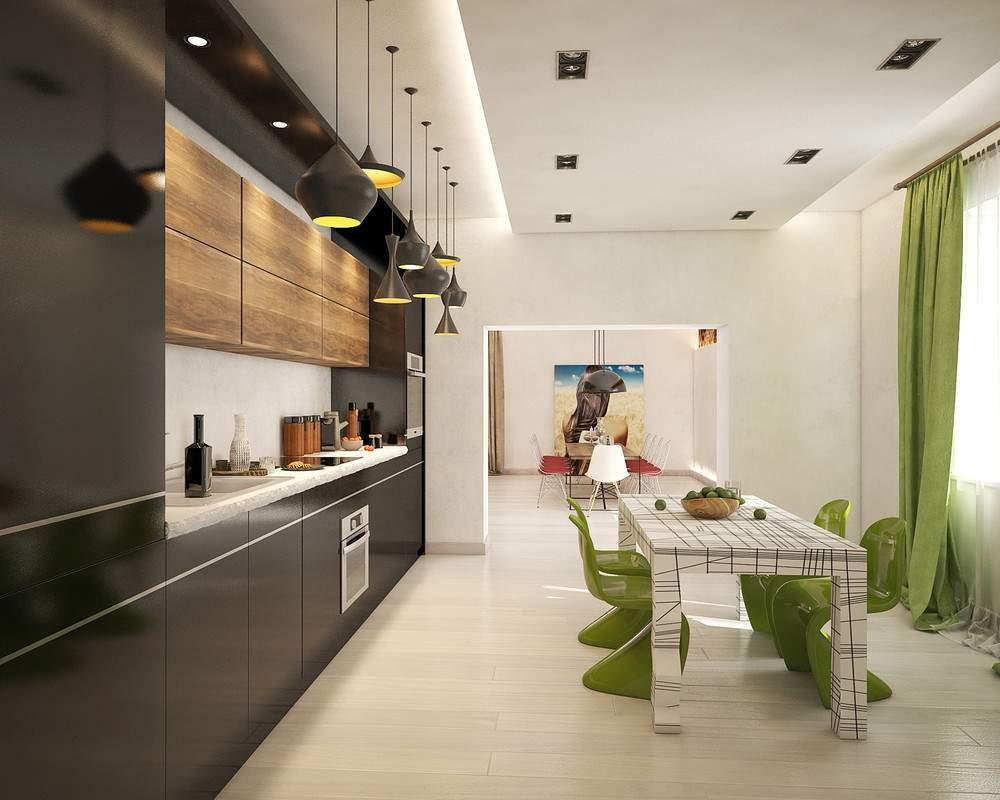 Интерьер современной кухни #67