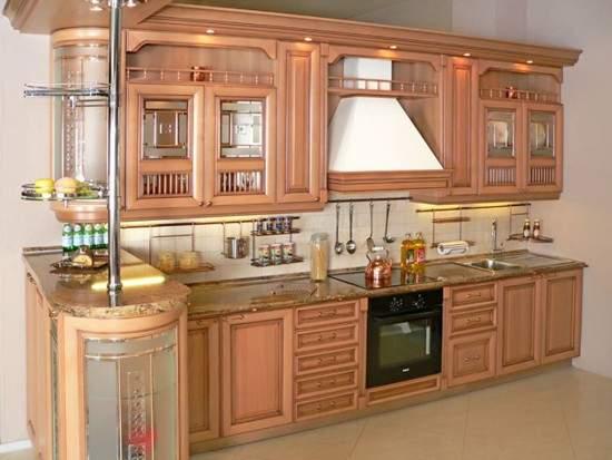 Дизайн кухни 9 кв м классика фото