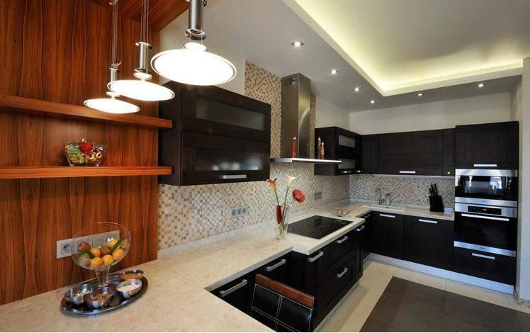 Фото кухонь в квартире черные