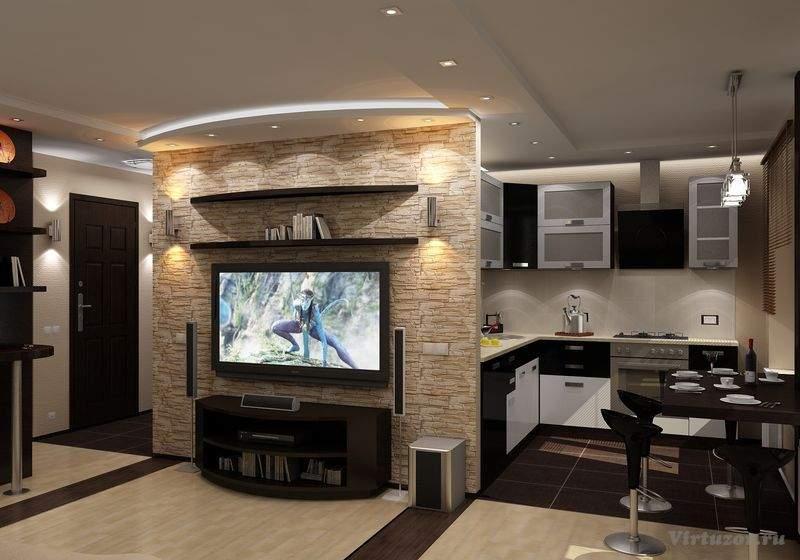 Дизайн кухни студии фото