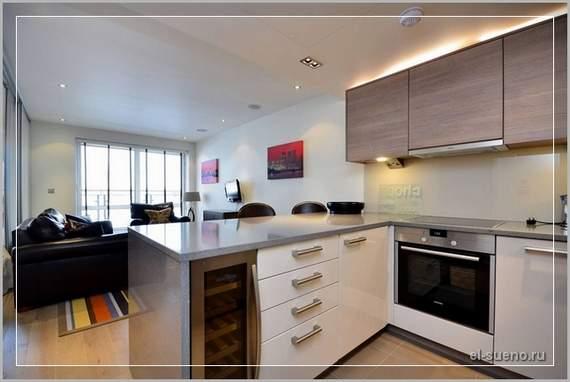 Кухня 25 кв.м дизайн