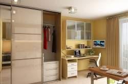 Дизайн кухни студии 30 кв м фото