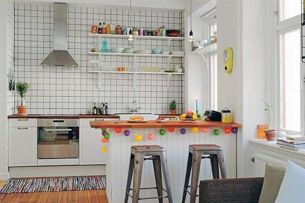 Дизайн маленькой кухни студии фото