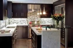 Дизайн кухни студии модерн фото