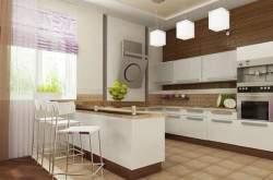 Дизайн кухни студии с барной стойкой фото