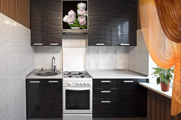 маленькая прямая кухня фото дизайн