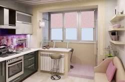 Дизайн маленькой кухни с балконом фото