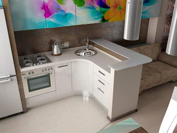 кухня для маленькой студии фото