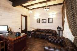 Деревянный интерьер кабинета