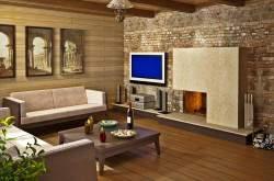 Деревянный интерьер комнаты отдыха