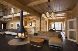 Современный деревянный интерьер