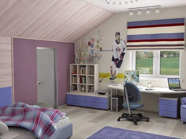 Дизайн комнаты на мансарде фото