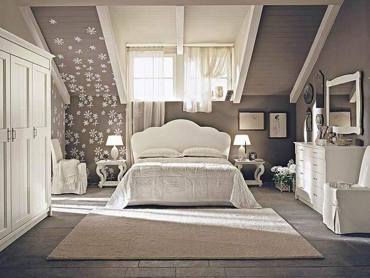 Дизайн интерьера спальни мансарды фото