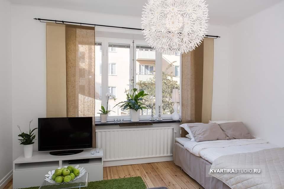 Дизайн квартиры студии 21 кв м фото