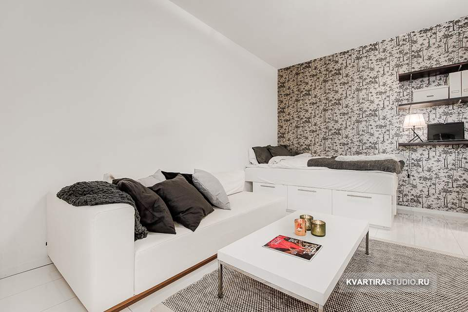 Дизайн квартиры студии 23 кв м фото