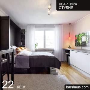 Дизайн квартиры студии 22 кв м фото