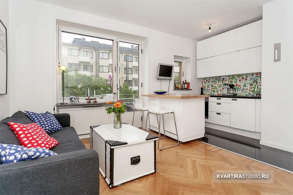 Дизайн квартиры студии 25 кв м фото.