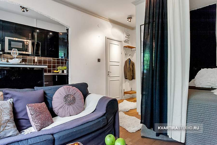 Квартира студия 26 кв дизайн