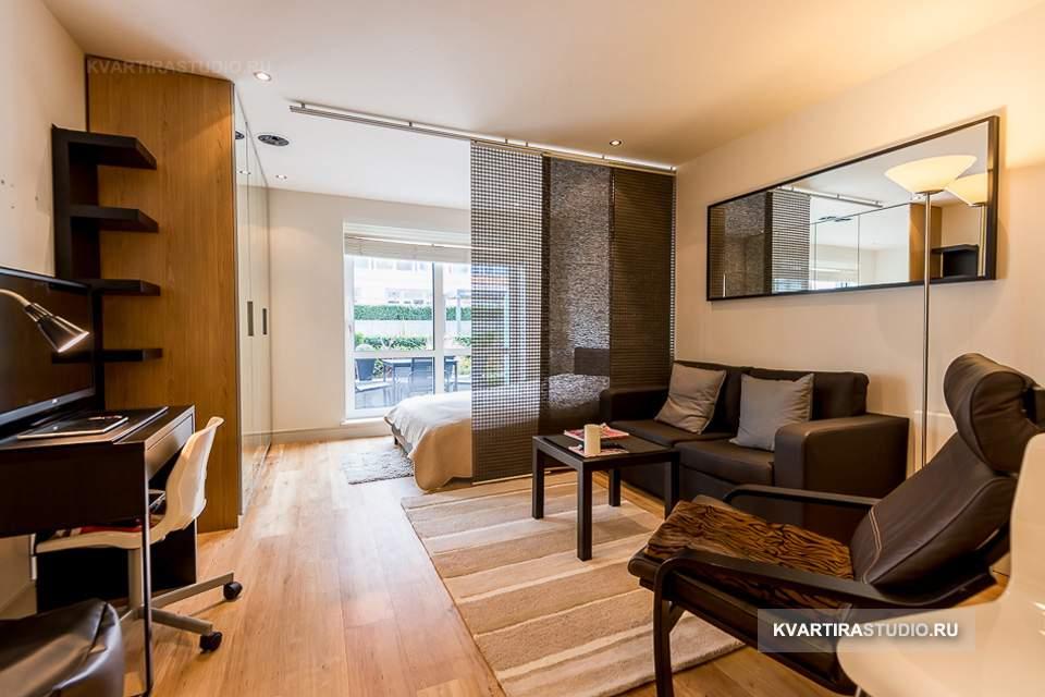Дизайн квартиры-студии 25 кв.м as-de.ru.