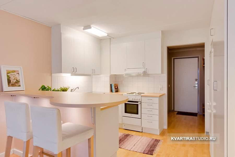 Дизайн интерьера квартиры студии с одним окном