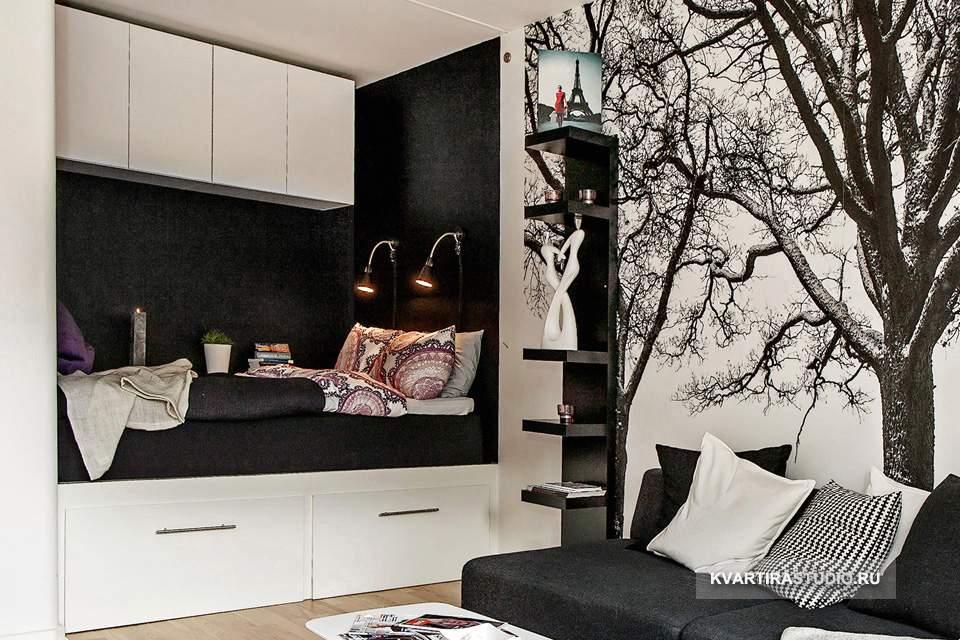 Дизайн квартиры студии 30 кв м фото