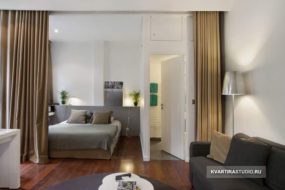 Дизайн квартиры студии 31 кв м фото