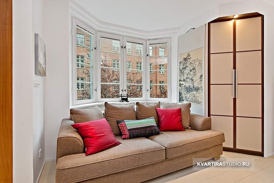 Дизайн квартиры студии 35 кв м фото