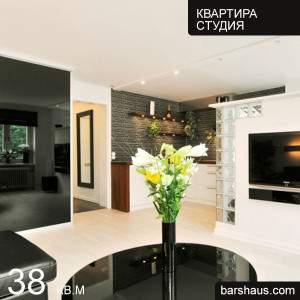 Дизайн квартиры студии 38 кв м фото