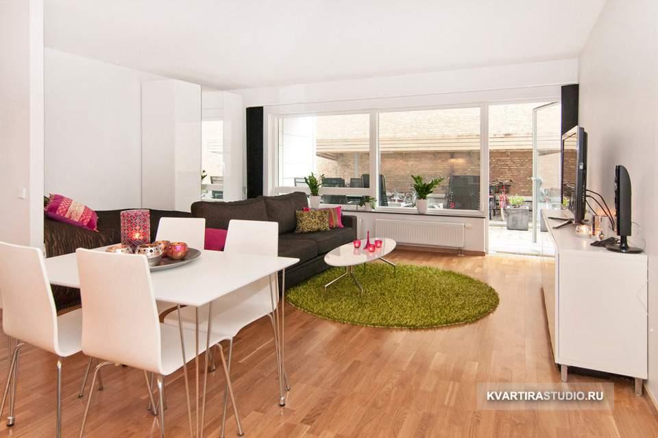 Дизайн квартиры студии 48 кв м фото