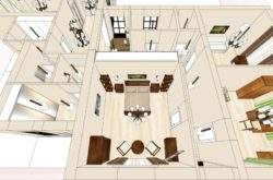 Эскизный дизайн-проект спальни коттеджа - портфолио дизайнера интерьера в Минске