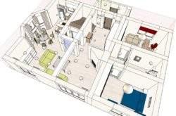 Дизайн-проект интерьера дома Минск - 1 этаж