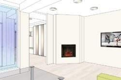 Дизайн-проект интерьера дома Минск - камин