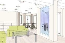Дизайн-проект интерьера дома Минск - аквапанель-перегородка