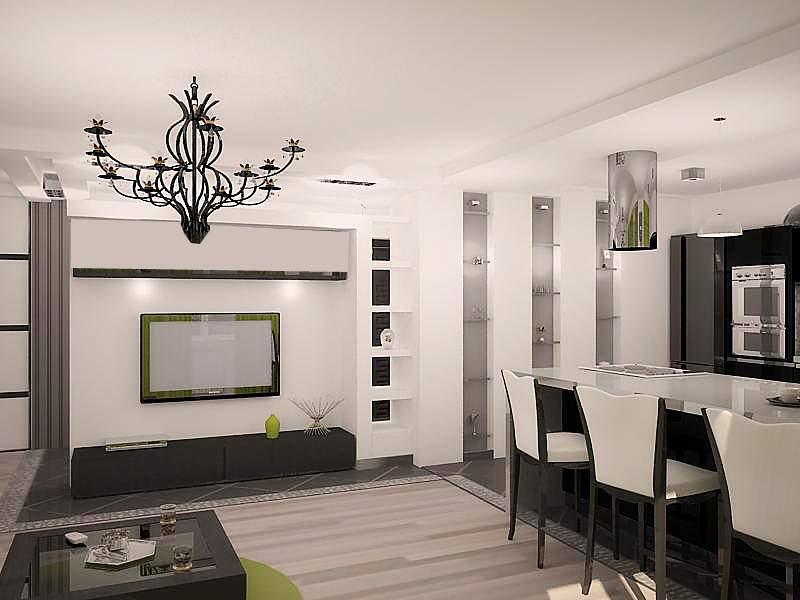 Дизайн интерьера трехкомнатной квартиры в Уручье, Минск