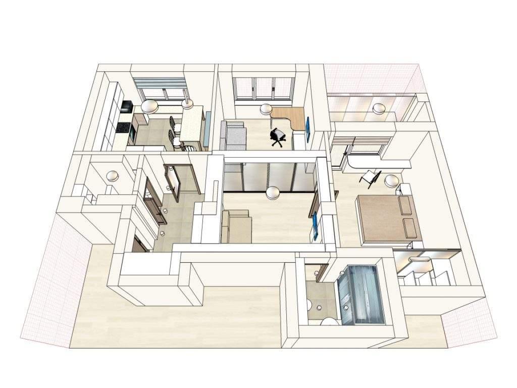 Дизайн интерьера квартиры в новостройке, Грушевка, Минск
